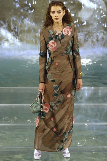 Romy Schonberger Couture show Fendi Fall  2016 at the Trevi Fountain Rome