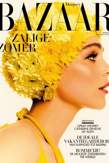 Kim Noorda very beautiful on the cover and with a story in Dutch Harper's Bazaar July/August 2018, Photographer Tim Verhallen, Stylist Mahid Karrouch, Make-up Anita Jolles, Hair Daan Kneppers