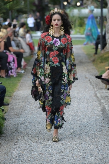 Nikki Vonsee for Dolce & Gabbana Alta Moda 2018 Como