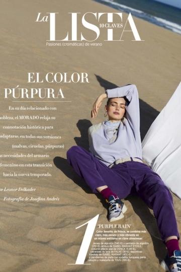 The always lovely, happy Hanna Verhees for Spanish Harper's Bazaar, captured by  Josefina Andrés, stylist Leonor Delkader, Hair and make-up Carol Guzamán