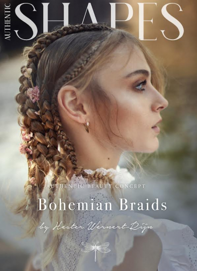 Anna-Sophia Evers with Bohemian Braids for step-by-step Shapes by Hester Werner for Authentic Beauty Concept, captured by Alek, Make-up Juliette den Ouden