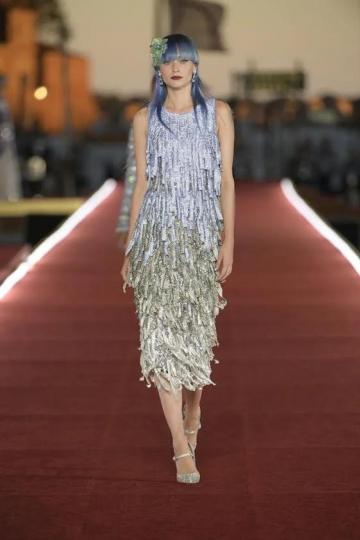 Anna-Sophia Evers for Dolce &Gabbana Alta Moda show Fall 2021 in Venice