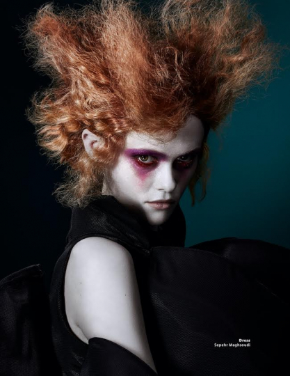 Chameleon Liselotte Claerhoudt for Nion, captured by Martijn Senders, Styling Pedro Dias, Hair Jouri Rouffa, Make-up Yvonne Nusdorfer
